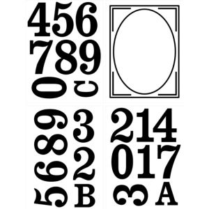 Image of The House Nameplate Company PVC Self Adhesive Wheelie Bin Number Sticker (H)160mm (W)210mm