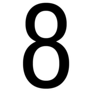 B&Q/Cleaning & Decorating/Decorating and paint accessories/Black PVCu Die Cut House Number 8