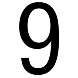 B&Q/Cleaning & Decorating/Decorating and paint accessories/Black PVCu Die Cut House Number 9
