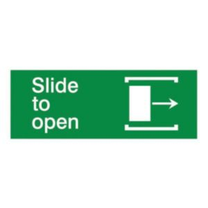 The House Nameplate Company PVC Self Adhesive Slide to Open Arrow Right Sign (H)80mm (W)200mm