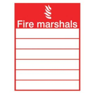 The House Nameplate Company PVC Self Adhesive Fire Marshals Sign (H)200mm (W)150mm