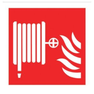 View The House Nameplate Company PVC Self Adhesive Fire Hose Reel Sign (H)200mm (W)200mm details