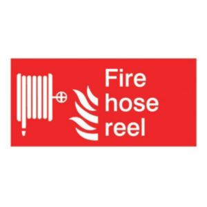 The House Nameplate Company PVC Self Adhesive Fire Hose Reel Sign (H)150mm (W)200mm
