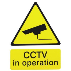 Image of The House Nameplate Company PVC Self Adhesive CCTV In Operation Sign (H)200mm (W)150mm