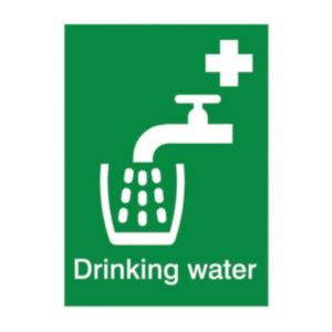 View The House Nameplate Company PVC Self Adhesive Drinking Water Sign (H)200mm (W)150mm details