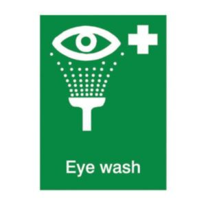 View The House Nameplate Company PVC Self Adhesive Eye Wash Sign (H)200mm (W)150mm details