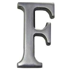 Image of Aluminium 40mm House letter F