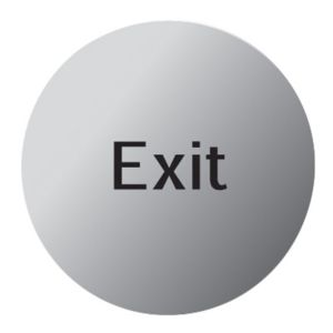 View The House Nameplate Company Stainless Steel Self Adhesive Exit Sign (W)115mm (Dia)115mm details