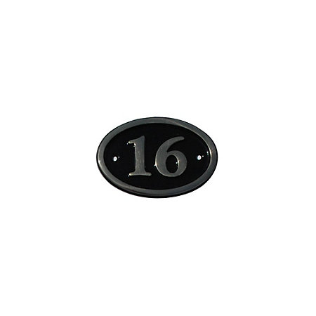 Black brass 120mm house plate number 16 departments for Number 16 house