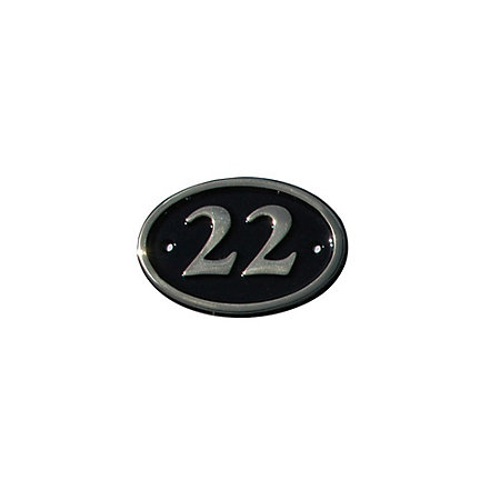 Black Brass House Plate Number 22   Departments   DIY at B&Q