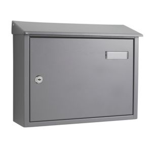 View The House Nameplate Company Grey Letterbox (H)280mm (W)365mm details