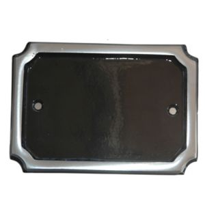Image of The House Nameplate Company Black Aluminium Rectangular House number (H)152mm (W)102mm