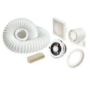 Manrose White Shower Light & Extractor Fan Kit (W)140mm
