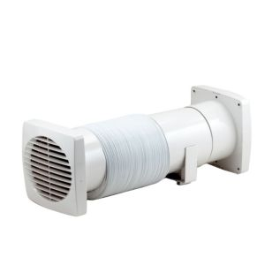 Manrose Vdisf100T Bathroom Shower Fan Extractor Fan Kit with Timer 99 mm