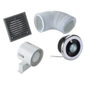 View Manrose VDISL100S Showerlight Bathroom Extractor Fan Kit details