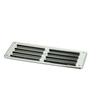 Manrose Silver Louvred Gas Vent (H)76mm (W)229mm