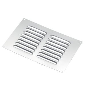View Manrose Silver Louvred Vent (H)152mm (W)229mm details