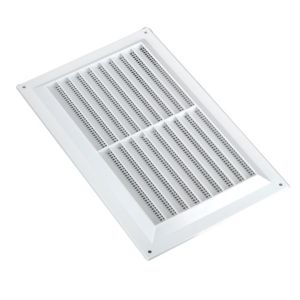 View Manrose White Louvred Vent (H)152mm (W)229mm details