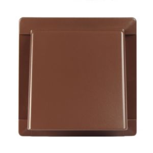 View Manrose Brown External Hooded Wall Vent (W)110mm details