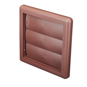 View Manrose Brown External Flap Wall Vent (H)140mm details
