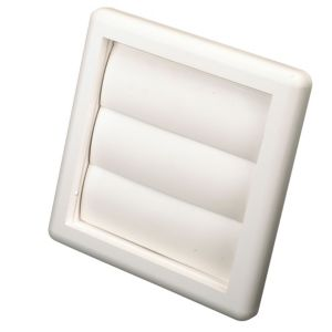 View Manrose White External Flap Wall Vent (H)140mm details