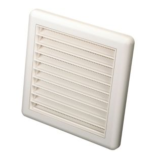View Manrose White External Louvred Wall Vent (H)140mm details