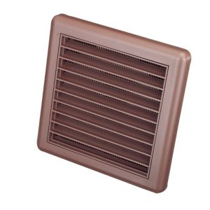 View Manrose Brown External Louvred Wall Vent (H)140mm details