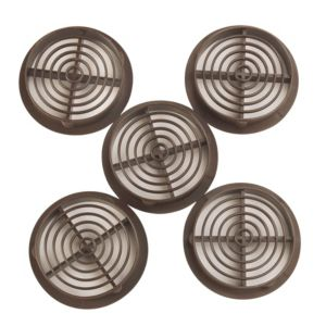 View Manrose Brown Circular Soffit Vent, Pack of 5 details