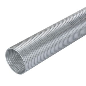 View Manrose Silver Semi Rigid Hose (H)140mm, Pack of 1 details