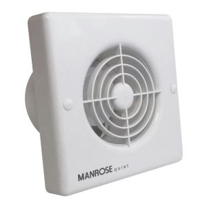 Manrose Quiet QF100T Bathroom Extractor Fan with Timer 98 mm