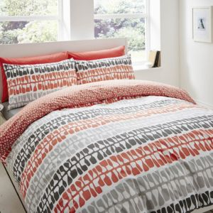 Image of Lotta Jansdotter Follie Patterned Coral Double Bed Set