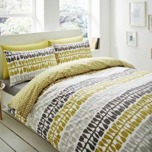 Image of Lotta Jansdotter Follie Patterned Green Single Bed set