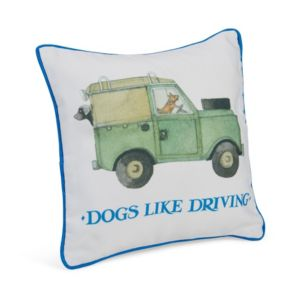 Image of Emma Bridgewater Dogs like driving Multicolour Cushion