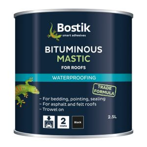 Bostik Black Waterproofing Bituminous Mastic 2.5L