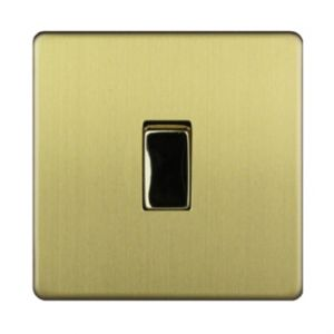 Varilight 10A 2-Way Single Brushed Gold Effect Light Switch