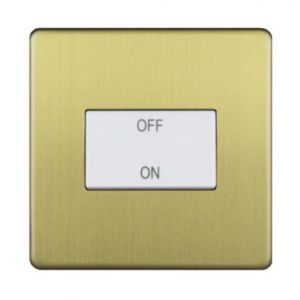 Image of Varilight 10A 1-Way Single Brushed Brass Effect Switch