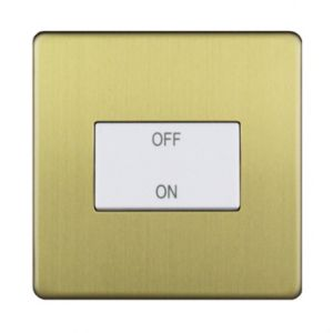 Image of Varilight 10A 1 way Brass effect Single Switch