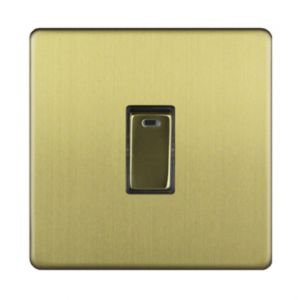 Varilight 20A 1-Way Single Brushed Brass Effect Switch