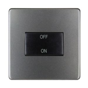 Image of Varilight 10A 1 way Matt grey Single Fan isolator Switch