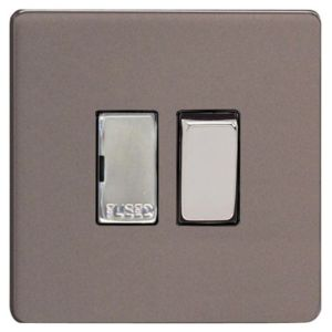 View Varilight Slate Effect Switched Fused Connection Unit 13A details