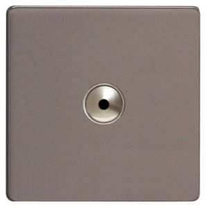 View Varilight 1-Gang 1-Way Slate Grey Remote Control Dimmer Switch details
