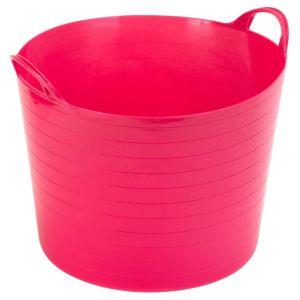 Strata Pink 40L Plastic Flexi Tub