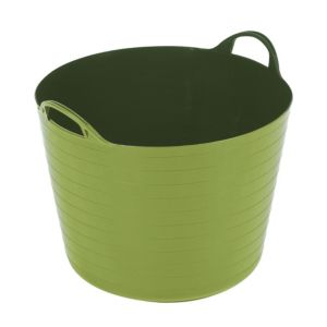 Image of Flexi Heavy duty Lime green 40L Plastic Stackable Tuff tub