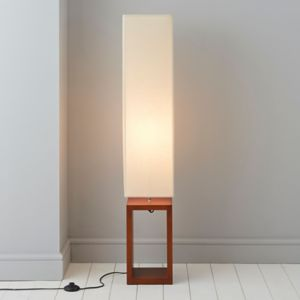 Image of Cargo Dark brown & cream Floor lamp