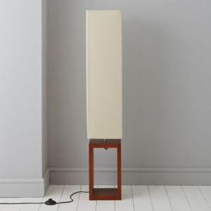 View Cargo Dark Brown & Cream Floor Lamp details