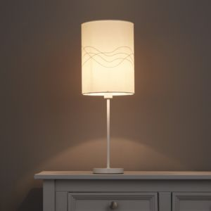 Image of Cream Embroidered Light shade (D)190mm