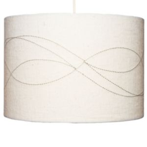 View Lights By B&Q Cream Embroidered Light Shade details