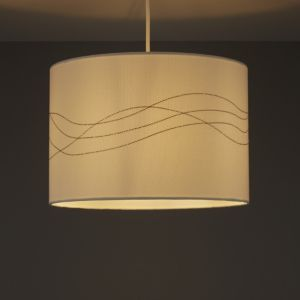 Image of Cream Embroidered Light shade (D)310mm