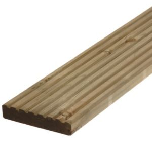 View Metsä Wood Deck Board Softwood Reversible Reversible Deck Board (W)144mm (L)2400mm (T)28mm details
