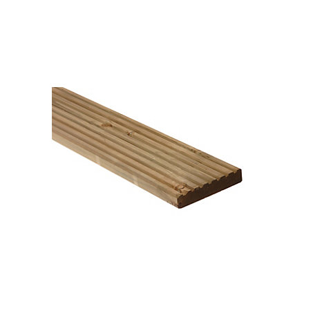 Mets wood deck board green softwood deck board t 28mm w for Softwood decking boards